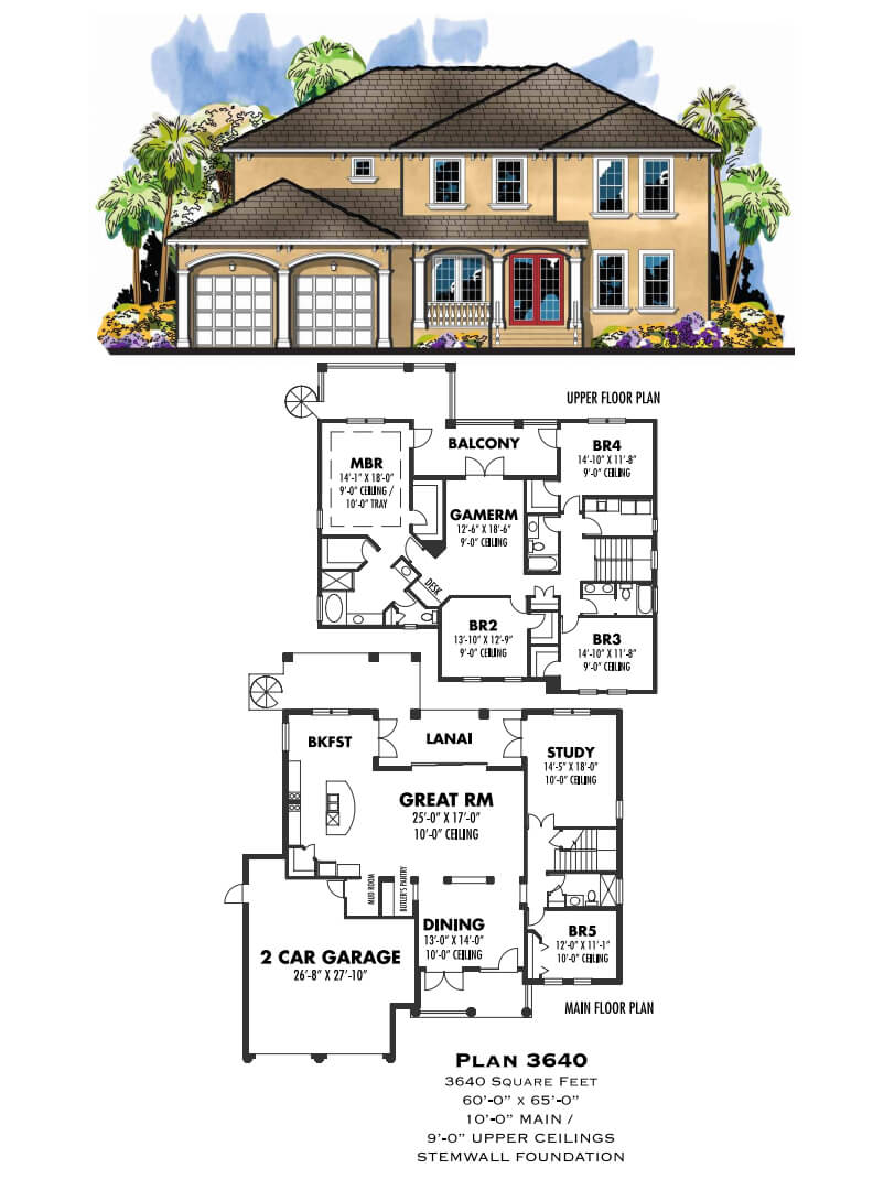 Floor Plans,3,501 SQ FT TO 4,000 SQ FT,1100