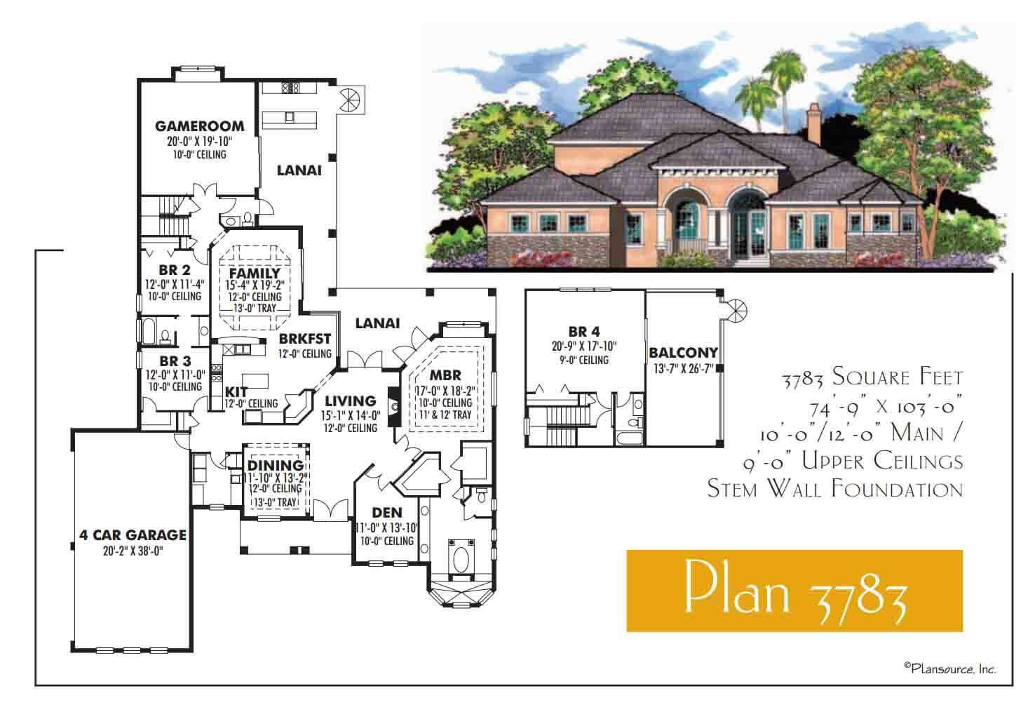 Floor Plans,3,501 SQ FT TO 4,000 SQ FT,1105