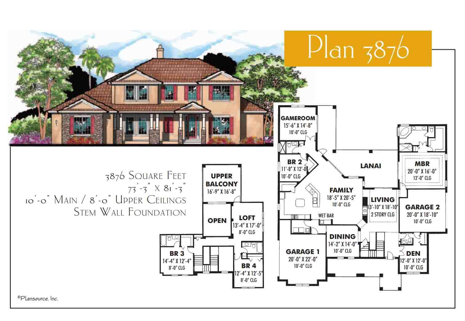 Floor Plans,3,501 SQ FT TO 4,000 SQ FT,1107