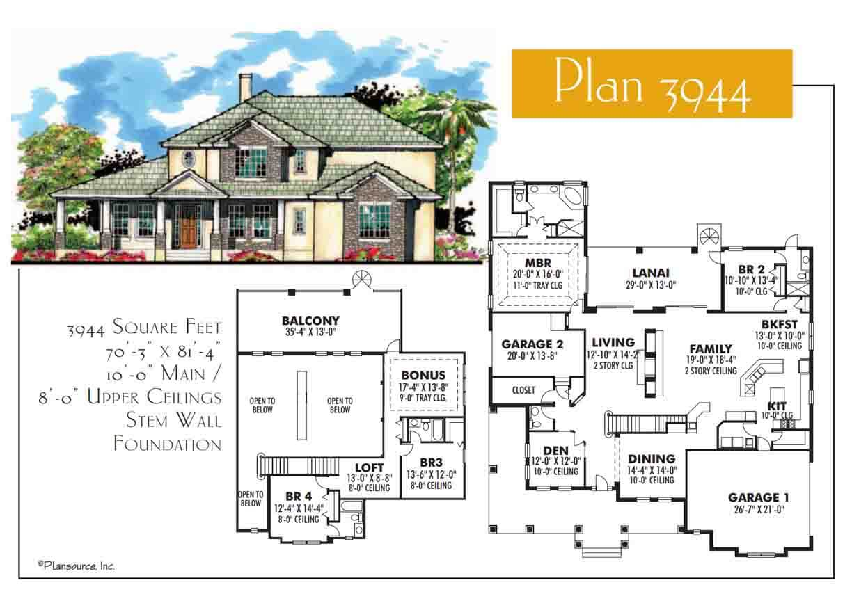Floor Plans,3,501 SQ FT TO 4,000 SQ FT,1109