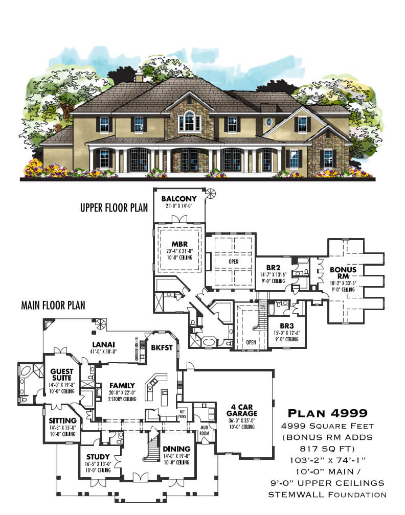 Floor Plans,4,001 SQ FT AND ABOVE,1122