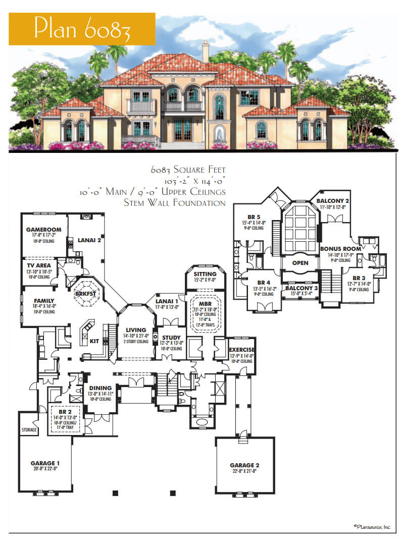 Floor Plans,4,001 SQ FT AND ABOVE,1125