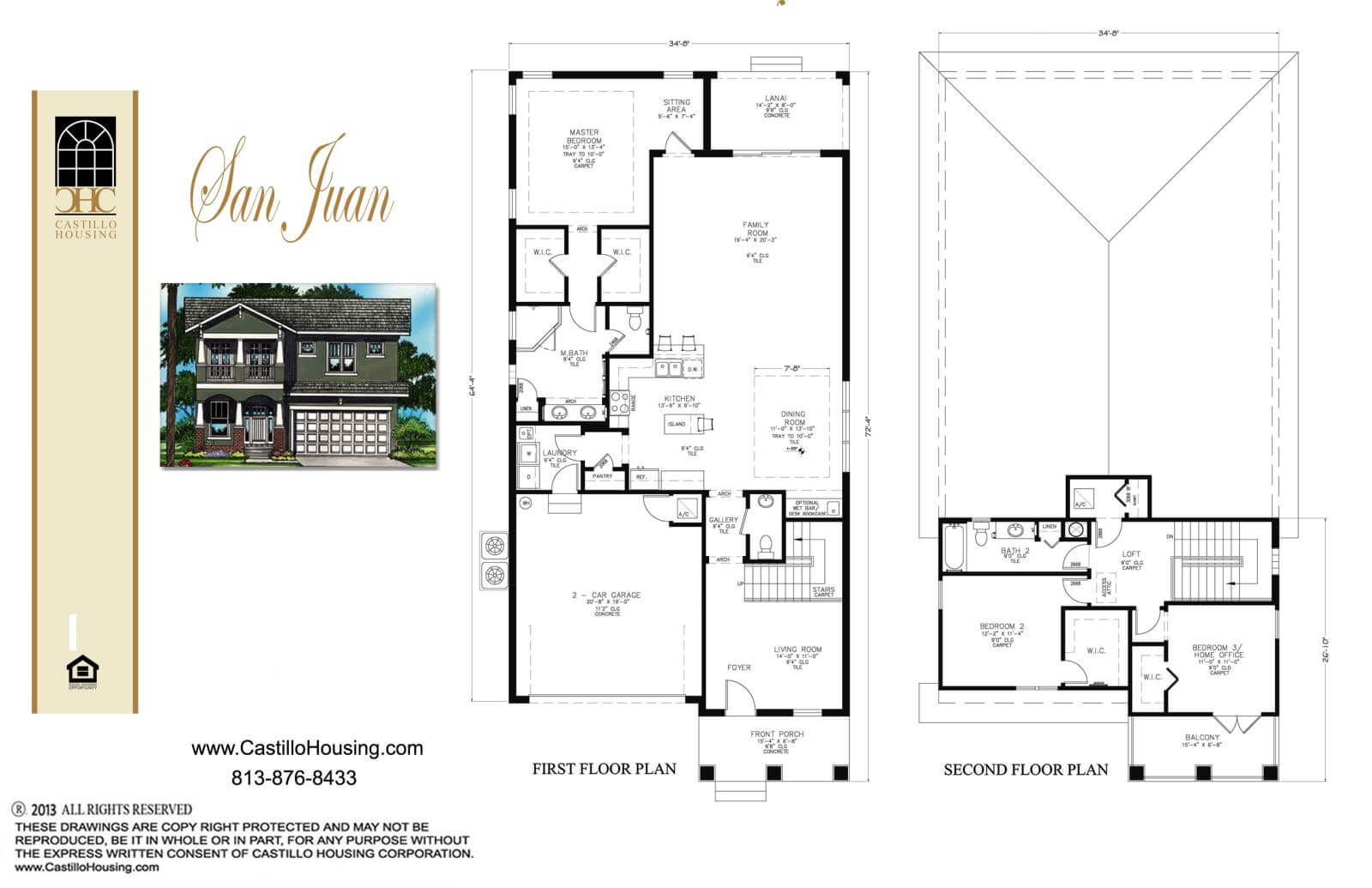 Floor Plans,2,001 SQ FT TO 2,500 SQ FT,1032