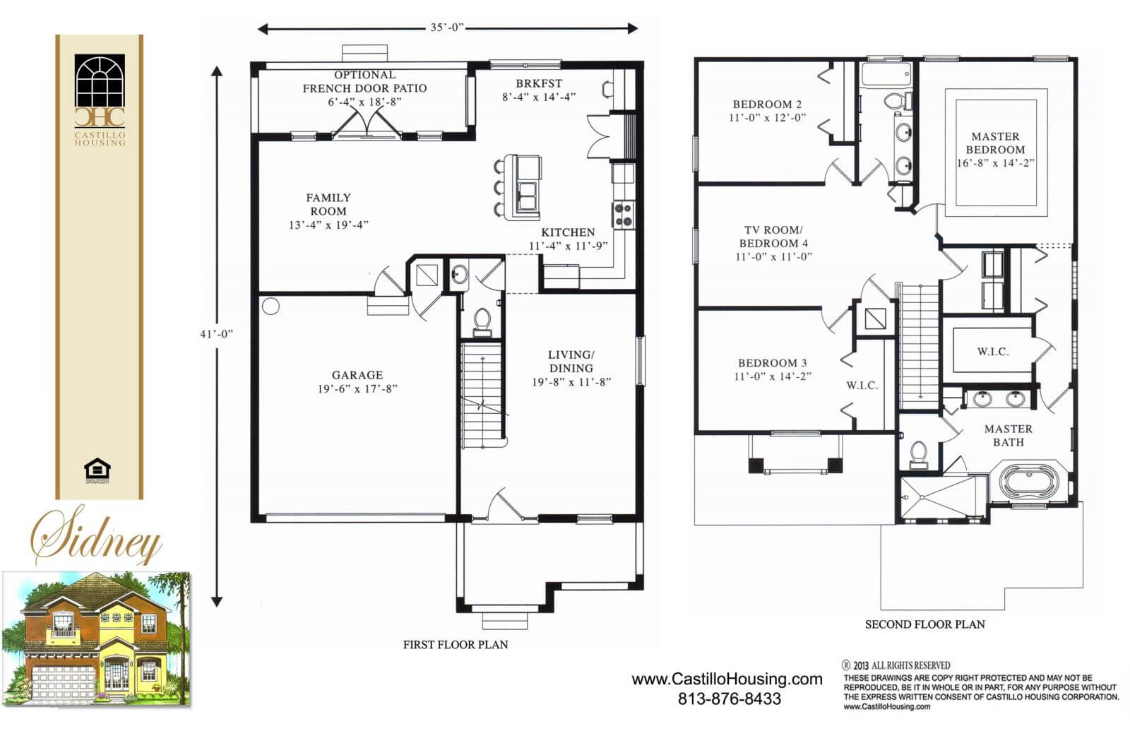 Floor Plans,2,001 SQ FT TO 2,500 SQ FT,1034