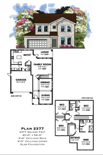 Floor Plans,2,001 SQ FT TO 2,500 SQ FT,1042