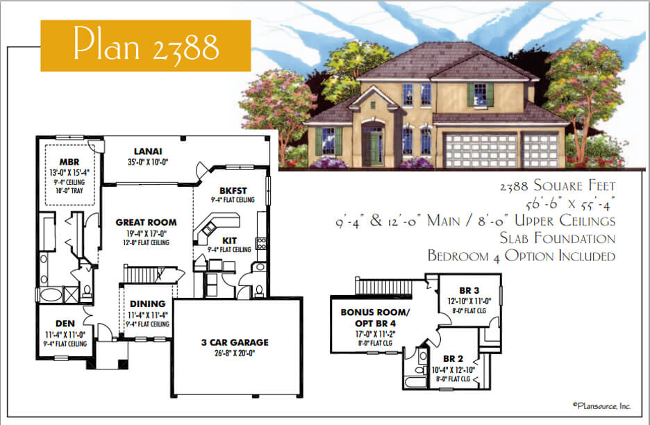 Floor Plans,2,001 SQ FT TO 2,500 SQ FT,1043