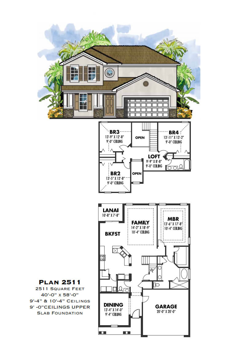 Floor Plans,2,501 SQ FT TO 3,000 SQ FT,1051