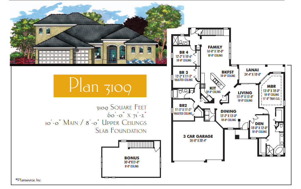 Floor Plans,3,001 SQ FT TO 3,500 SQ FT,1080