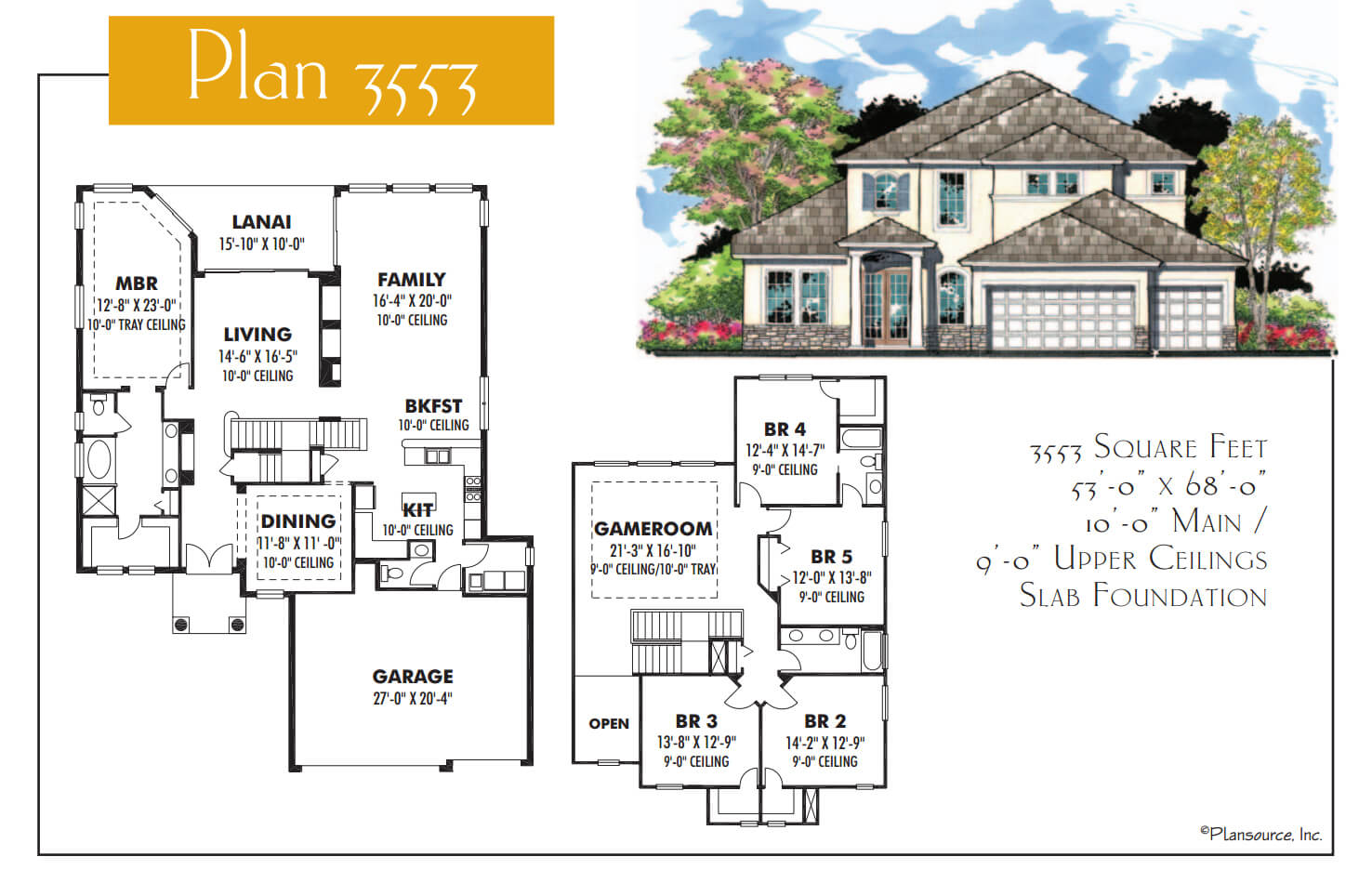 Floor Plans,3,501 SQ FT TO 4,000 SQ FT,1097
